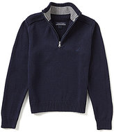 Nautica Big Boys 8-20 Quarter-Zip Mockneck Pullover Sweater