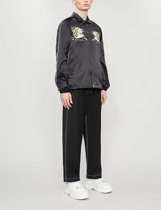 A Bathing Ape Tiger-embroidered satin jacket