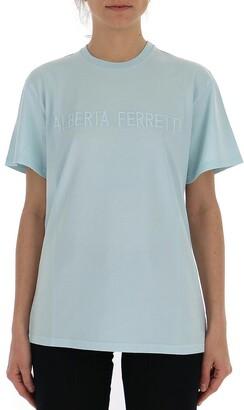Alberta Ferretti Logo Crewneck T-Shirt