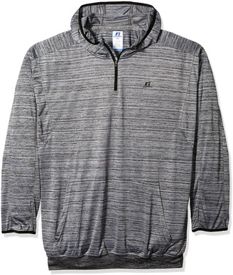 Russell Athletic Men's Big and Tall 1/4 Zip Poly Hood Jersey with Lc r