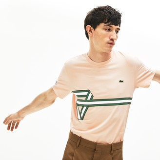 Lacoste Mens Heritage Ribbon Regular Fit Cotton T-shirt