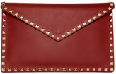 Valentino Garavani Valentino Red Rockstud Envelope Pouch