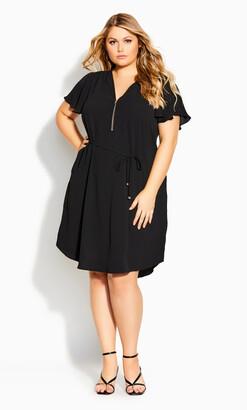City Chic Sweet Fling Dress - black