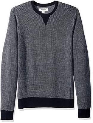 Goodthreads Men's Merino Wool Crewneck Birdseye jumper Sweatshirt, Blue (), Small
