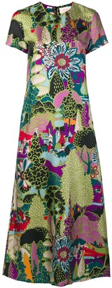 La DoubleJ Printed Maxi Dress