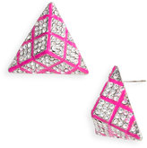 Guinevere Pyramid Crystal Statement Earrings