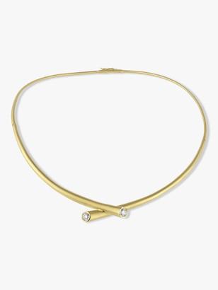 Carelle Whirl Diamond Collar Necklace