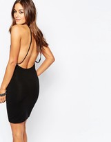 Religion Sexy Open Back Body-Conscious Dress With Bead Detail