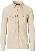 Ralph Lauren Purple Label Suede Shirt Jacket