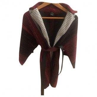 Pinko Burgundy Wool Coat for Women