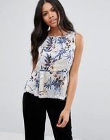 Girls On Film Floral Drape Top