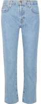 Current/Elliott The Vintage Straight High-rise Jeans - Mid denim