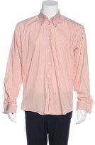 Saint Laurent Striped French Cuff Shirt