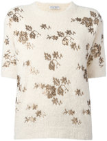 Brunello Cucinelli sequin patch top - women - Cotton/Polyamide/Polyester - S
