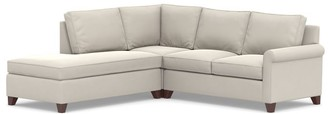 Pottery Barn Cameron Roll Arm Upholstered 3-Piece Bumper Sectional