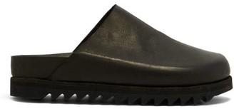 Guidi Calf Raised-sole Grained-leather Mules - Black