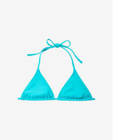Express aqua adjustable triangle bikini swim top
