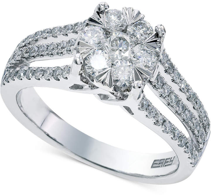 Effy Bouquet by Diamond Engagement Ring in 14k White Gold (9/10 ct. t.w.)