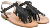 Pépé fringed sandals - kids - Calf Leather/Leather/rubber - 27