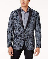 INC International Concepts I.n.c. Men's Slim-Fit Textured Snake-Print Jacket, Created for Macy's