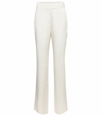 Safiyaa Bridal Zaya silk satin straight pants