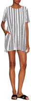 Lucca Couture Pleated Striped Shift Dress