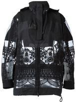 Sacai tribal lace military jacket - women - Cotton/Nylon/Polyester - M