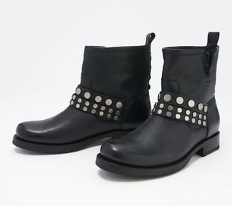 Frye Leather Stud Booties - Veronica