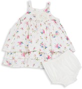 Laura Ashley Baby Girl's 2-Piece Floral Flounce Dress & Bloomers Set