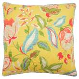 Waverly Yellow Floral Modern Poetic Reversible Throw Pillow (20x20