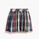 J.Crew Girls' tulle-hem skirt in festive plaid