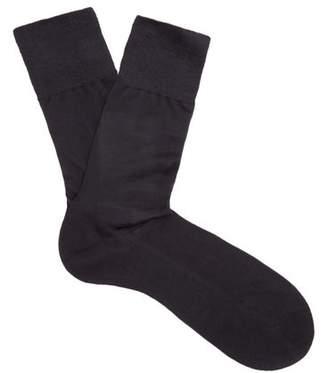 Falke N4 Silk Socks - Mens - Navy