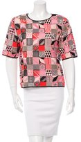 MSGM Embroidered Patchwork Top w/ Tags