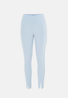 Missguided Light Blue Split Front Cigarette Trousers