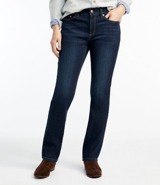 L.L. Bean Women's BeanFlex Jeans, Favorite Fit Straight-Leg