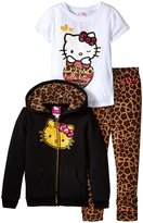 Hello Kitty 3 Piece Leggings Set (Toddler/Kid) - True Black - 4T