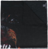 Givenchy rottweiler print scarf - men - Silk/Cashmere - One Size