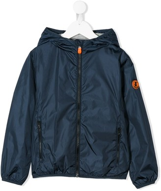 Save The Duck Kids Logo Patch Hooded Jacket