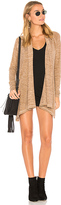 Bobi Heavy Knit Cardigan in Tan. - size L (also in M,S,XS)