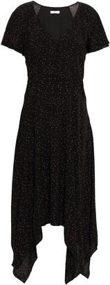 Joie Tamyra Asymmetric Printed Voile Midi Dress