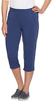 As Is Denim & Co. Active Forward Seam Capri Pants with Pockets