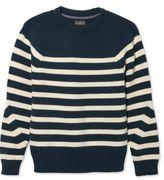 L.L. Bean Signature Maritime Stripe Sweater, Crewneck