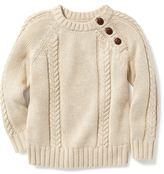 Old Navy Cable-Knit Shoulder-Button Sweater for Toddler Boys