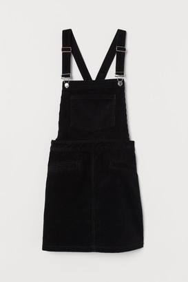 H&M Corduroy dungaree dress