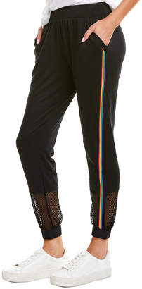 Terez Rainbow Trim Fitted Sweatpant