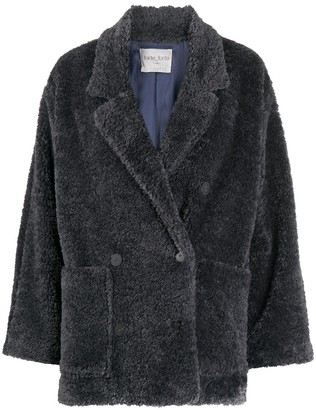 Forte Forte Double-Breasted Shearling Jacket