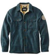 L.L. Bean Signature Lined Wool-Blend Shirt Jacket, Slim Fit Plaid