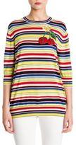 Dolce & Gabbana Embellished Striped Knit