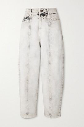 Stella McCartney Cropped Acid-wash High-rise Straight-leg Jeans - White