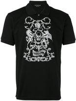 Alexander McQueen embroidered polo shirt